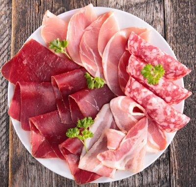 Papiers peints salami, bacon