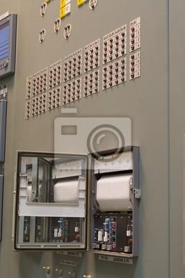 Salle De Controle Dune Usine De Production Denergie Nucleaire Papier