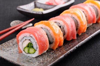 Papiers peints Salmon & sushi de thon rouleau