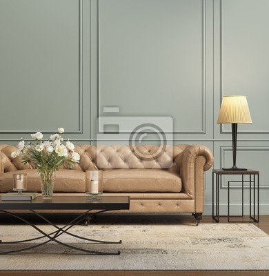 Papiers peints: Salon contemporain élégant et élégant avec canapé-lit