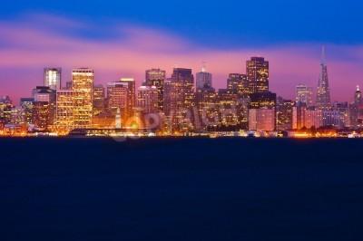 Papiers peints San Francisco horizon à la nuit