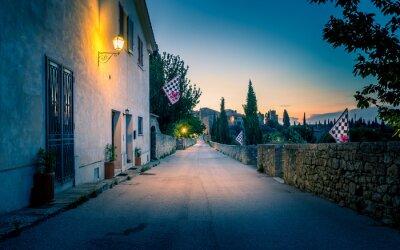 Papiers peints San Quirico D'orcia de nuit, Toscane