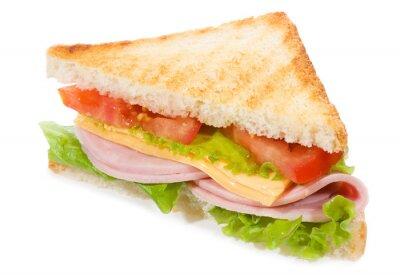 sandwich au jambon et légumes
