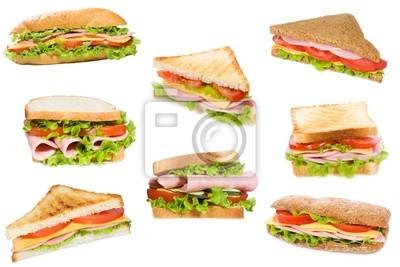 Sandwiches au jambon et aux légumes