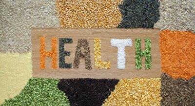 Papiers peints Santé et santé aliments - céréales, graines, légumineuses, riz - biologique.