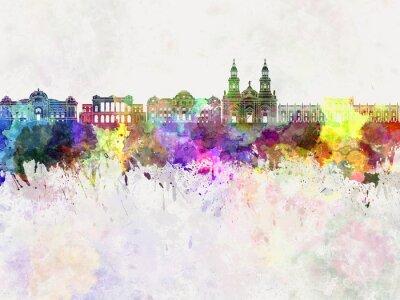 Papiers peints Santiago, Chili, V2, Horizon, aquarelle, fond