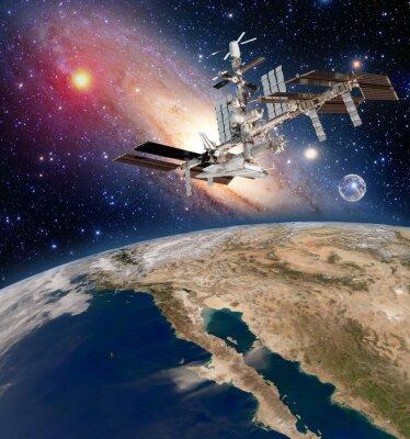 Papiers peints Satellite de la Terre astronomie station spatiale internationale météorologie voie lactée galaxie. Éléments de cette image fournis par la NASA.