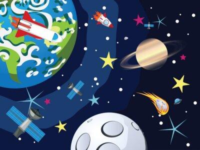 Papiers peints Saturne dans l'espace