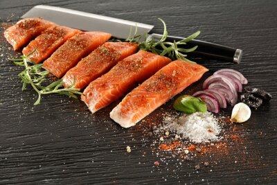 Papiers peints saumon