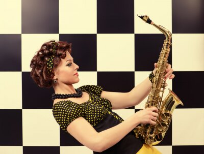 Papiers peints Saxophoniste expressif