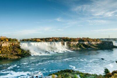 Papiers peints Scénique, vue, Niagara, chutes, automne