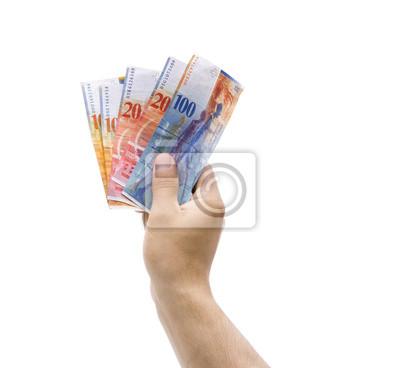 Schweizer Franken der Hand