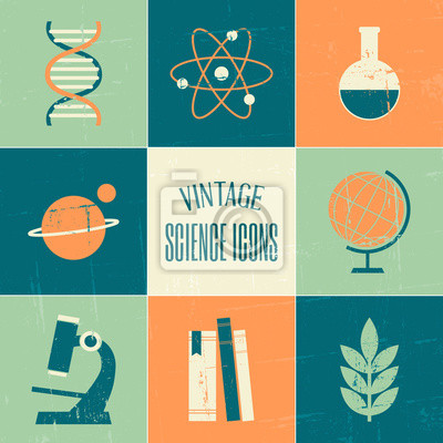 Science Icons Collection Vintage