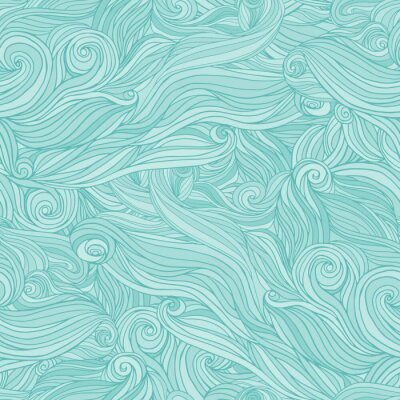 Papiers peints Seamless abstract pattern, tangle wavy hair background