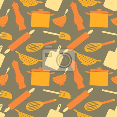 Seamless Articles de cuisine Motif