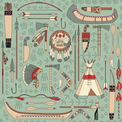 Papiers peints seamless, avec des attributs amérindiennes