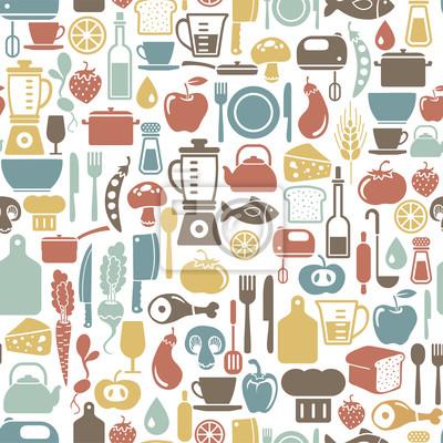 seamless, avec des icônes cuisson