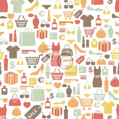seamless, avec des icônes de shopping