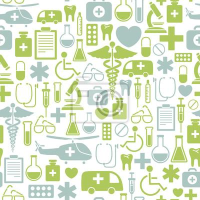 seamless, avec des icônes médicaux