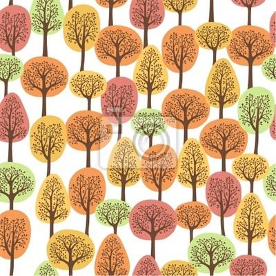 seamless, avec la forêt en automne