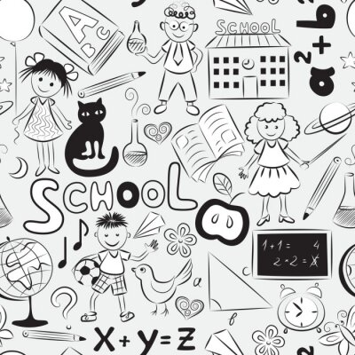 Papiers peints Seamless avec le thème de l'école