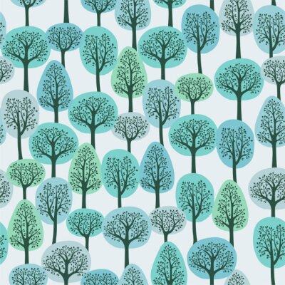 seamless, avec une forêt d'hiver