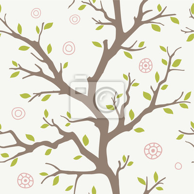 seamless, avec une silhouette de l'arbre