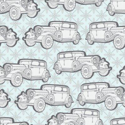 Papiers peints Seamless avec voiture rétro