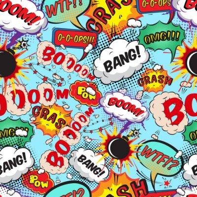 Papiers peints Seamless discours comique bulles