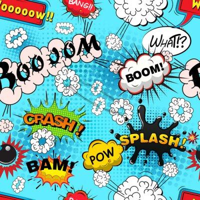 Papiers peints Seamless discours motif de bande dessinée, illustrations bulles