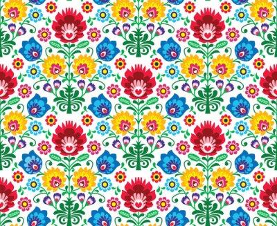 Papiers peints Seamless floral polonais - ethnique