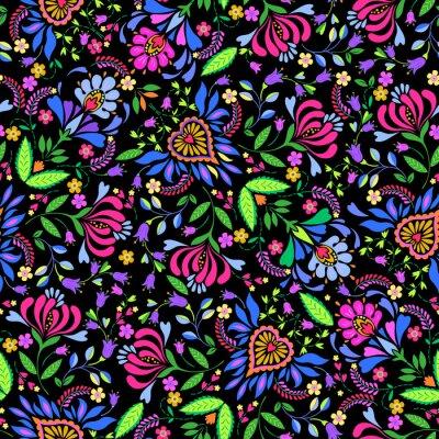 Papiers peints seamless folk vector pattern