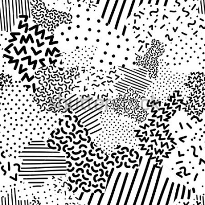 Papiers peints Seamless geometric pattern in memphis style
