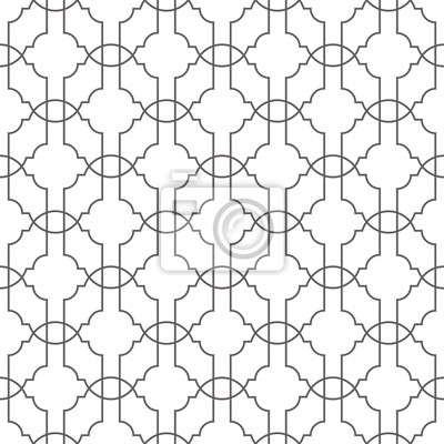 Seamless geometric vector pattern with thin lines net.