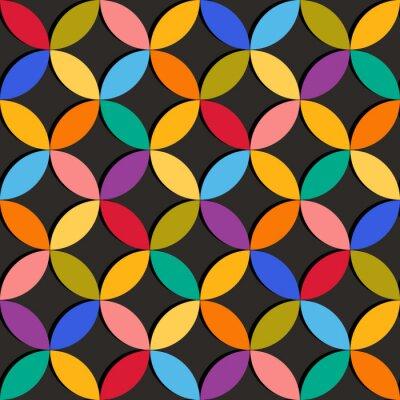 Papiers peints Seamless géométrique avec des éléments colorés