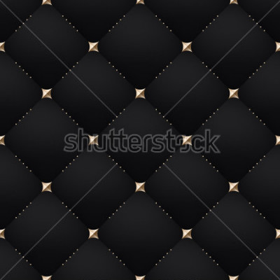 Papiers peints Seamless luxury dark black pattern and background. Vector Illustration