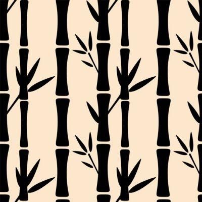 Papiers peints Seamless, modèle, noir, silhouettes, bambou, Arbres