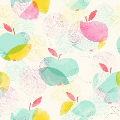 Papiers peints Seamless, modèle, Pommes