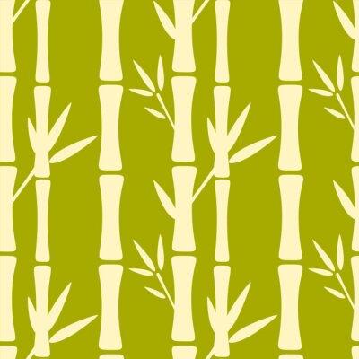 Papiers peints Seamless, modèle, silhouettes, bambou, Arbres