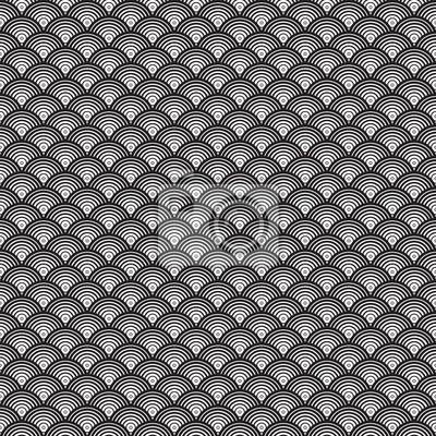 Seamless Noir Et Blanc Abstrait Art Deco Vecteur Motif Papier Peint