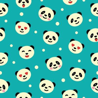 Papiers peints Seamless pattern avec panda. Vector illustration.
