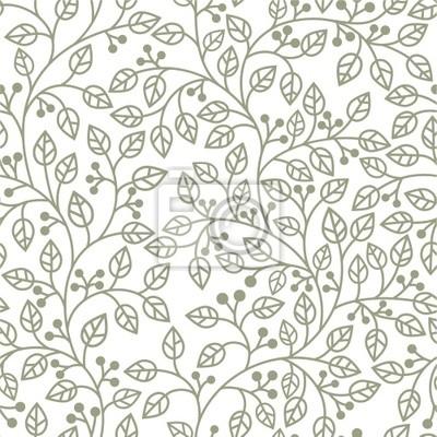 seamless pattern gris avec des feuilles ornement
