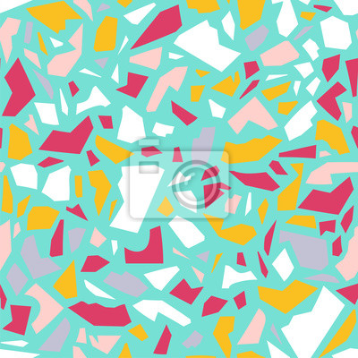 seamless pattern with terazzo ornament