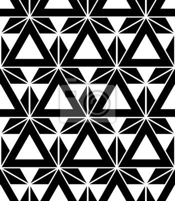 seamless triangles de motif noir et blanc moderne impression papier peint papiers peints. Black Bedroom Furniture Sets. Home Design Ideas