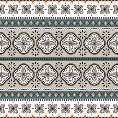 Seamless vector geometric rosette pattern background.