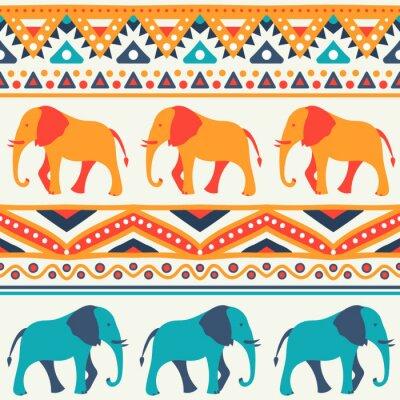 Papiers peints Seamless vector pattern animale de l'éléphant