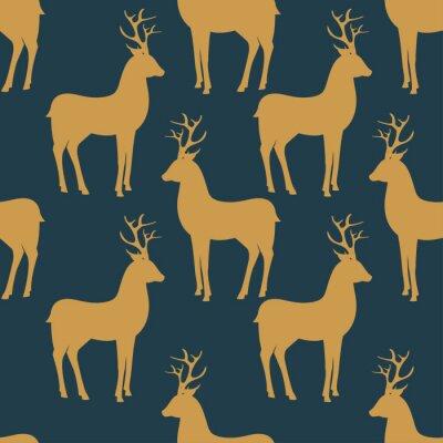 Papiers peints Seamless vector pattern with deer