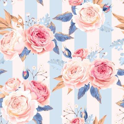 Papiers peints Seamless, vendange, roses