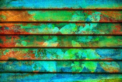 Papiers peints série rythmique lignes colorées en bois