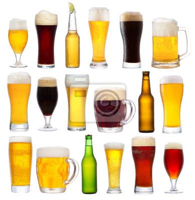sertie de bière différente